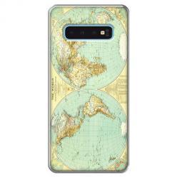 Etui na Samsung Galaxy S10 - Mapa świata
