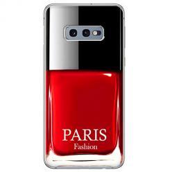 Etui na Samsung Galaxy S10e - Czerwony lakier do paznokci