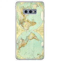 Etui na Samsung Galaxy S10e - Mapa świata
