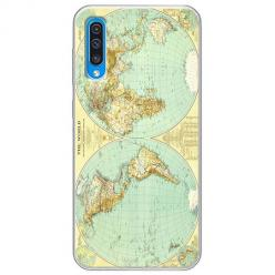 Etui na Samsung Galaxy A50 - Mapa świata