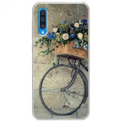 Etui na Samsung Galaxy A50 - Rower z kwiatami