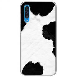 Etui na Samsung Galaxy A50 - Biało czarna krowa