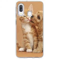Etui na Samsung Galaxy A40 - Jak pies z kotem