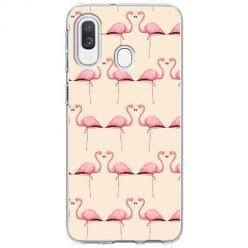 Etui na Samsung Galaxy A40 - Flamingi