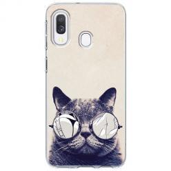 Etui na Samsung Galaxy A40 - Kot w okularach