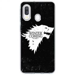 Etui na Samsung Galaxy A20e - Winter is coming White