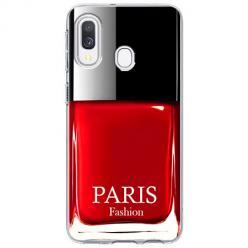 Etui na Samsung Galaxy A20e - Czerwony lakier do paznokci