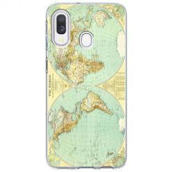 Etui na Samsung Galaxy A20e - Mapa świata