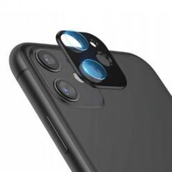 iPhone 11 Hartowane szkło na Tylny aparat z ramką Alu
