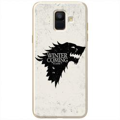 Etui na Samsung Galaxy A8 2018 - Winter is coming Black