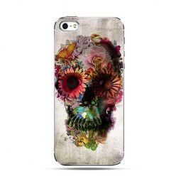 Etui na telefon czaszka z kwiatami