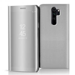 Etui na Xiaomi Redmi Note 8 Pro - Flip Clear View z klapką - Srebrny.