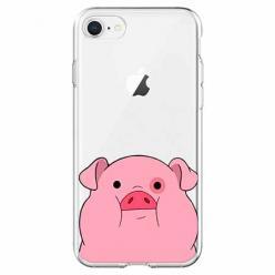 Etui na iPhone 7 - Słodka różowa świnka.