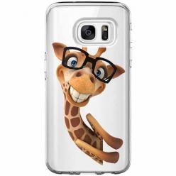 Etui na Galaxy S6 Edge - Wesoła żyrafa w okularach.