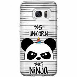 Etui na Galaxy S6 Edge - Ninja Unicorn - Jednorożec.