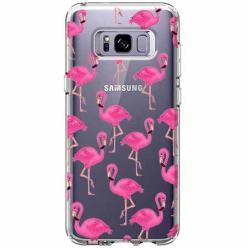 Etui na Samsung Galaxy S8 - Różowe flamingi.