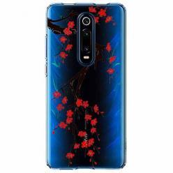 Etui na Xiaomi Mi 9T - Krzew kwitnącej wiśni.