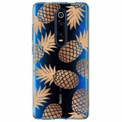 Etui na Xiaomi Mi 9T - Złote ananasy.
