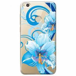 Etui na Huawei P9 Lite 2017 - Niebieski kwiat północy.