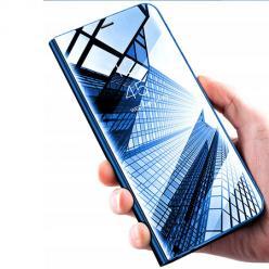 Etui na Xiaomi Mi A3 - Flip Clear View z klapką - Niebieski