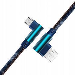 Kabel Micro-USB Szybkie ładowanie  Angle 90° 2m - Jeans