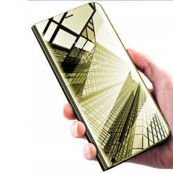 Etui na Huawei Nova 5T - Flip Clear View z klapką - Złoty