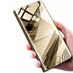 Etui na Xiaomi Redmi 8A - Flip Clear View z klapką - Złoty