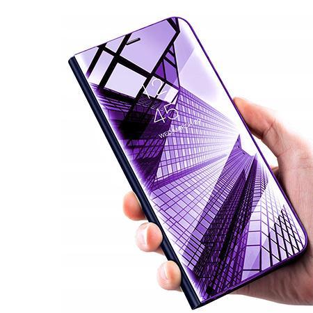 Etui na Samsung Galaxy A50 - Flip Clear View z klapką - Fioletowy.