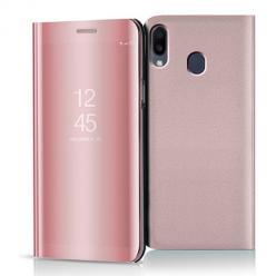 Etui na Samsung Galaxy M20 - Flip Clear View z klapką - Różowy.