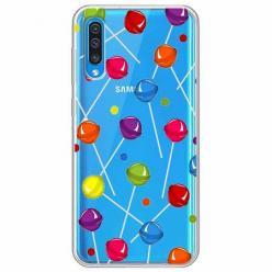 Etui na Samsung Galaxy A30s - Kolorowe lizaki.