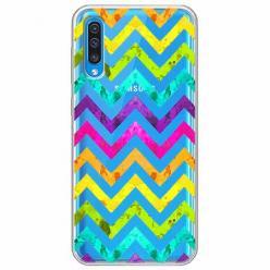 Etui na Samsung Galaxy A30s - Tęczowy przeplataniec.