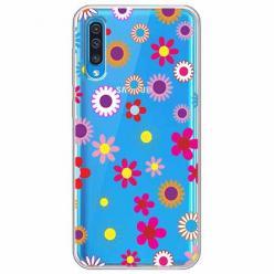 Etui na Samsung Galaxy A30s - Kolorowe stokrotki.