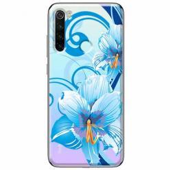 Etui na Xiaomi Redmi Note 8T - Niebieski kwiat północy.
