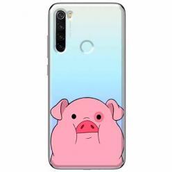 Etui na Xiaomi Redmi Note 8T - Słodka różowa świnka.