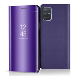 Etui na Samsung Galaxy A71 - Flip Clear View z klapką - Fioletowy.