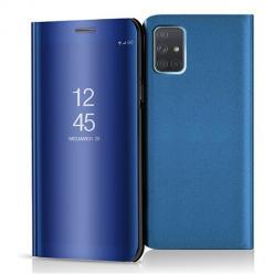 Etui na Samsung Galaxy A71 - Flip Clear View z klapką - Niebieski.