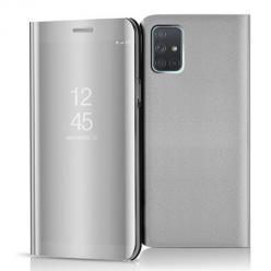 Etui na Samsung Galaxy A71 - Flip Clear View z klapką - Srebrny.