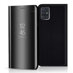 Etui na Samsung Galaxy A51 - Flip Clear View z klapką - Czarny.